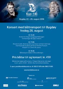 Plakat 2016 hvor det er tilbud om båttransport fra Nesodden