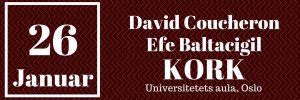 Konsert med David Coucheron, Elfe Baltacigil og Kork