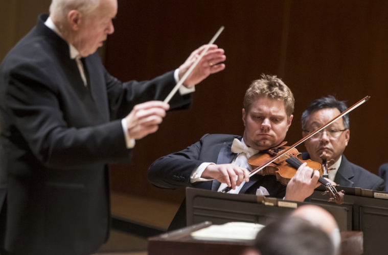Concertmaster David Coucheron performed a solo in the Strauss piece